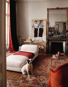 the Saint-Germain-des-Prés, Paris VI, apartment of artist Kyo.