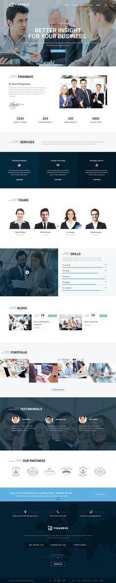 FINANBOX – Responsive Multipurpose Business & Corporate Business WordPress Theme