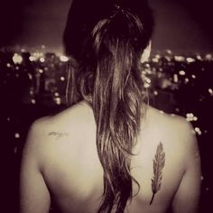 Love feather tattoos, original placing too