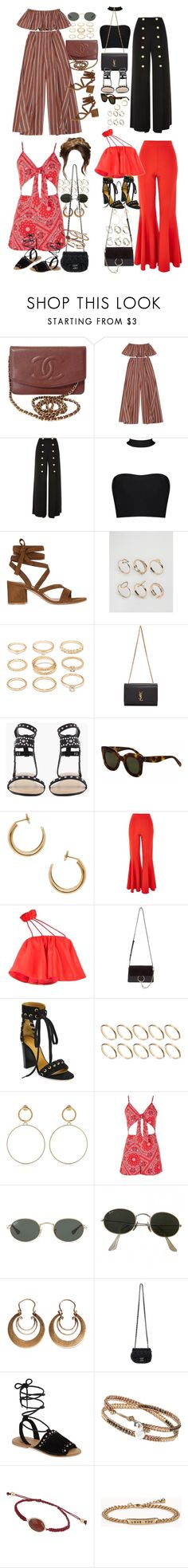"""""""Inspired outfits for Harry's concert (requested)"""" by nikka-phillips ❤ liked on Polyvore featuring Chanel, Topshop, Gianvito Rossi, ALDO, Forever 21, Yves Saint Laurent, Maison Margiela, Chloé, ASOS and Maria Francesca Pepe"""