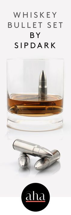 These stainless steel bullets acts as #whiskeyrocks & can be used to cool whiskey, scotch, vodka, white wine and more.