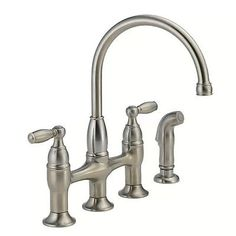 pioneer kitchen faucet. pioneer americana series two-handle bridge kitchen faucet with sprayer (pvd tuscany bronze finish) | faucets and s