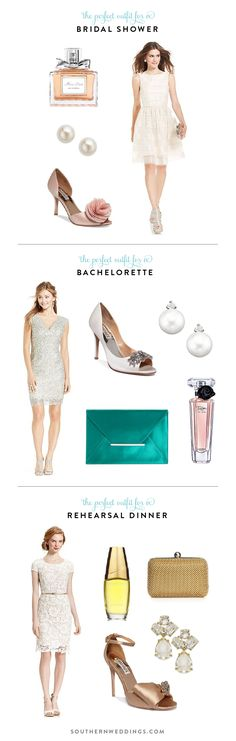 favorite outfits for a bridal shower, bachelorette, and rehearsal dinner