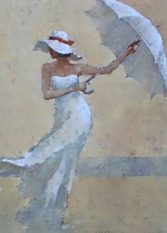 André Kohn is a Russian-born painter whose style is described as figurative impressionist. For biographical notes -in english and italian- by Kohn see: Andre Kohn, 1972 Art Sketches, Art Drawings, Umbrella Art, Portrait Art, Beautiful Paintings, Figure Painting, Female Art, New Art, Watercolor Art