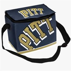 Pittsburgh Panthers Zippered Insulated Lunch Bag - Navy Blue