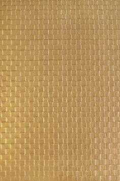 Granada Weave Faux Leather Vinyl Wallcovering Metallic Bronze faux leather lattice wallcovering.