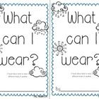FREE! This is a lesson I did with my class on what we should wear in different kinds of weather.  Included is a whole group activity and an emergent read...