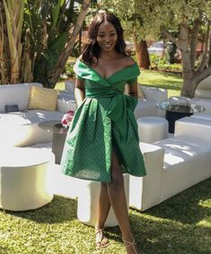South African Tradition 💚 Short African Dresses, Latest African Fashion Dresses, South African Traditional Dresses, Shweshwe Dresses, African Traditions, African Attire, Wrap Dress, Child, Inspired