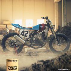 KTM 450 Flat Track – Lorenzo Buratti « Custom Bikes « DERESTRICTED