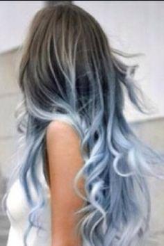blue grey hair - Google Search