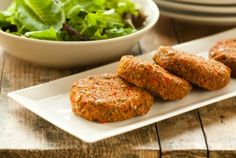 Quinoa and Sweet Potato Cakes - shopping list: quinoa, sprouted lentils, red bell pepper, red onion, chili powder, sweet potato, bragg organic sprinkle seasoning or saltfree seasoning of your choice from| Whole Foods Market