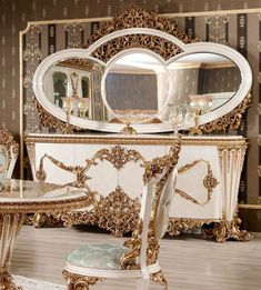 Baroque Furniture, Luxury Dining Room, Living Room Furniture, Mirror, Buffet, Home Decor, Hall Furniture, Decoration Home, Room Decor