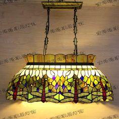 tiffany restaurant tafels, gekleurde glazen kroonluchter hanglamp biljart lamp tiffany tiffany lamp wieg(China (Mainland))
