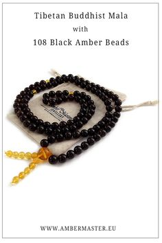 Black color natural amber Tibetan Buddhist mala 108 prayer yoga meditation beads on thread Yoga Mala, Mala Meditation, Amber Beads, Amber Jewelry, Prayer Beads, Baltic Amber, How To Make Beads, Prayers, Jewellery