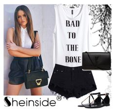 """Shein"" by istrijana ❤ liked on Polyvore featuring moda, H&M y Yves Saint Laurent"