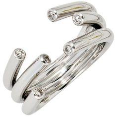 Damen-Ring 6 Diamant-Brillanten 14 Karat (585) Weißgold 0.12 ct. 52 (16.6) Dreambase, http://www.amazon.de/dp/B00AWAHBLE/ref=cm_sw_r_pi_dp_y1njtb0Z18VQG