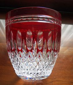 Waterford Clarendon Ruby Red Ice Bucket Excellent Condition #WaterfordCrystal