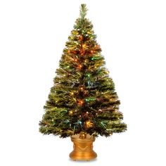 48-inch Fiber Optic Radiance Fireworks Tree with Gold Base