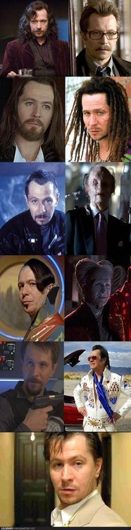The many faces of Gary Oldman...a fantastic actor!