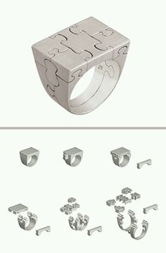 A puzzle ring. Way cool.