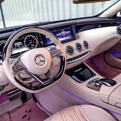 Daimler's mega brand Maybach was under Mercedes-Benz cars division until when the production stopped due to poor sales volumes. Mercedes-AMG became a Mercedes Auto, Carros Mercedes Benz, Mercedes Benz Autos, Mercedes Sport, List Of Luxury Cars, Best Luxury Cars, Luxury Cars Interior, Pink Car Interior, Maserati Interior
