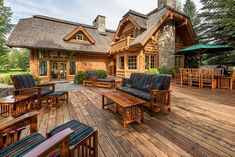 This deck belongs to a vacation rental house. Boy would I like to stay here! Rustic Mountain Homes