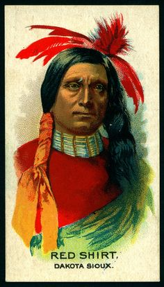 Cigarette Card - Indian Chief, Red Shirt