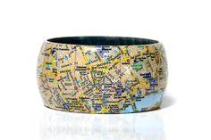 Armreifen LONDON Notting Hill Gate - Tower Hill City map von PappLePapp auf Etsy