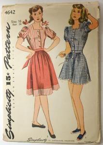 Simplicity 4642 Vintage 1940s Playsuit Sewing Pattern Womens Bust 34 [4642] - $24.99 : Vintage Sewing Patterns, Patterns For Sale