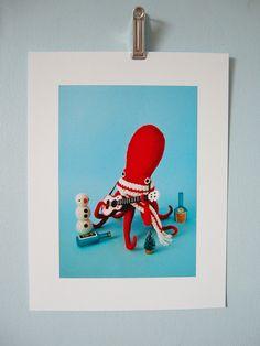 Print Ukelele Octopus by hine on Etsy