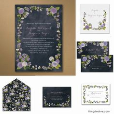 chalkboard wedding invitations with vintage flair #wedding #vintage #invitations
