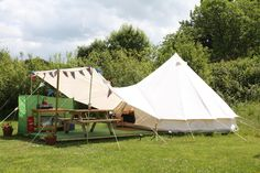 bell tent awning - Google Search
