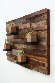 Reclaimed wood wall art 37x24x5 Large art by CarpenterCraig