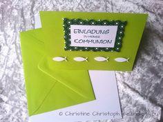 Einladungskarte Kommunion KK0034 MAG + Umschlag von candle4you auf DaWanda.com