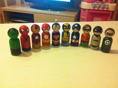 In the life of a Small Bear: Superhero Peg Dolls