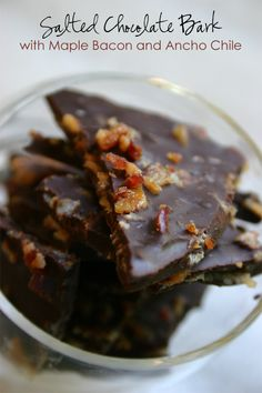 Salted Chocolate Bark with Maple Bacon and Ancho Chile www ...
