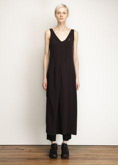 Y-3 Asymmetrical Dress (Black)