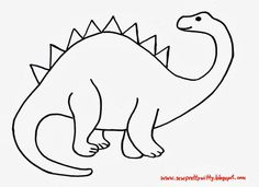 blank dinosaur template | Paper Crafts for Children | Dinosaur ...