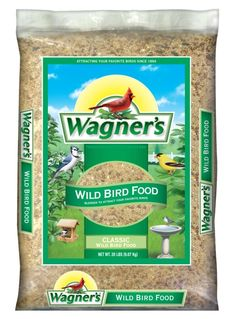 Wagner's Classic Wild Bird Food is blended for year round feeding and is formulated to attract a wide variety of birds. This blend of sunflower seed millet cracked corn and milo will attract you. Wild Bird Food, Wild Birds, Finch Feeders, Food Net, Bird Migration, Cooking Network, Snack Recipes, Snacks, Fonts