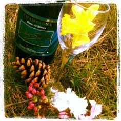 Spring celebration with champagne...