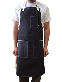 DARK INDIGO SELVAGE DENIM CHEF'S APRON – Butcher and Baker