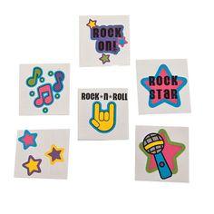 Rock Star Glitter Tattoos - OrientalTrading.com
