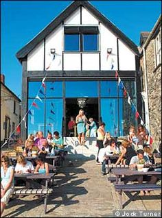 sams on the beach - Polkerris - fab bistro and fish in old Lifeboat Station