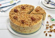 Egyptian walnut cake (CC Eng Sub) Romanian Desserts, Romanian Food, Baby Food Recipes, Cake Recipes, Dessert Recipes, No Cook Desserts, Easy Desserts, Food Cakes, Cupcake Cakes