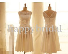 Short White Lace Bridesmaid Dresses Party Dresses Chiffon Homecoming Dresses Wedding Dresses