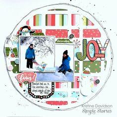 Christmas Themed Scrapbook Layouts | 12X12 layouts | Scrapbooking Ideas | Creative Scrapbooker Magazine #christmas #scrapbooking #12X12layout Featuring Simple Stories