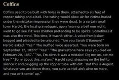 mostgenerousguardian: meganphntmgrl: here's to harold the most sensible person in creepypasta bless u harold Spooky Memes, Copper Tubing, Bury, Creepypasta, First Night, Small Towns, Popular Memes, Coffin, The Locals