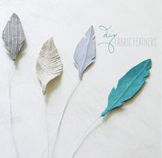 Handcrafted: DIY Fabric Feathers