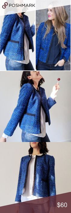 ⚠️HOST PICK ⚠️J.Crew Royal Blue Tweed Blazer J Crew blue tweed jacket. Super chic J.Crew Tweed blazer in classic royal blue.  They are not only fun and colorful but look chic with over both dresses and a simple tank jean combo. J. Crew Jackets & Coats Blazers