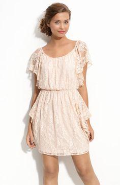 Velvet Torch Draped Lace Dress